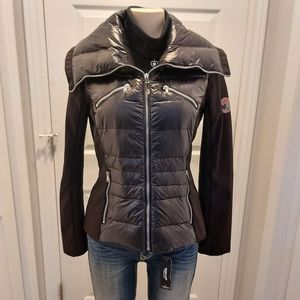 Womens Hailfax Traders Black Puffer Down Jacket S